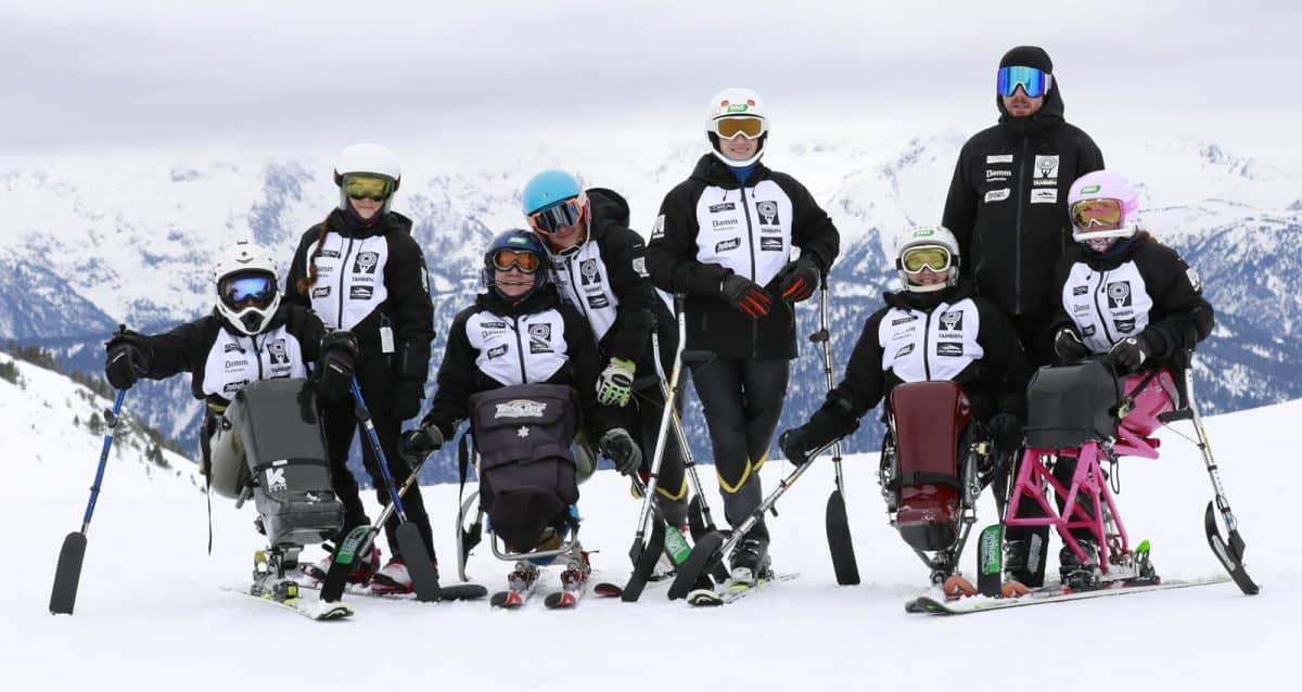 Miembros del Equipo Fundación También Competición Esquí & Snowboard Adaptado
