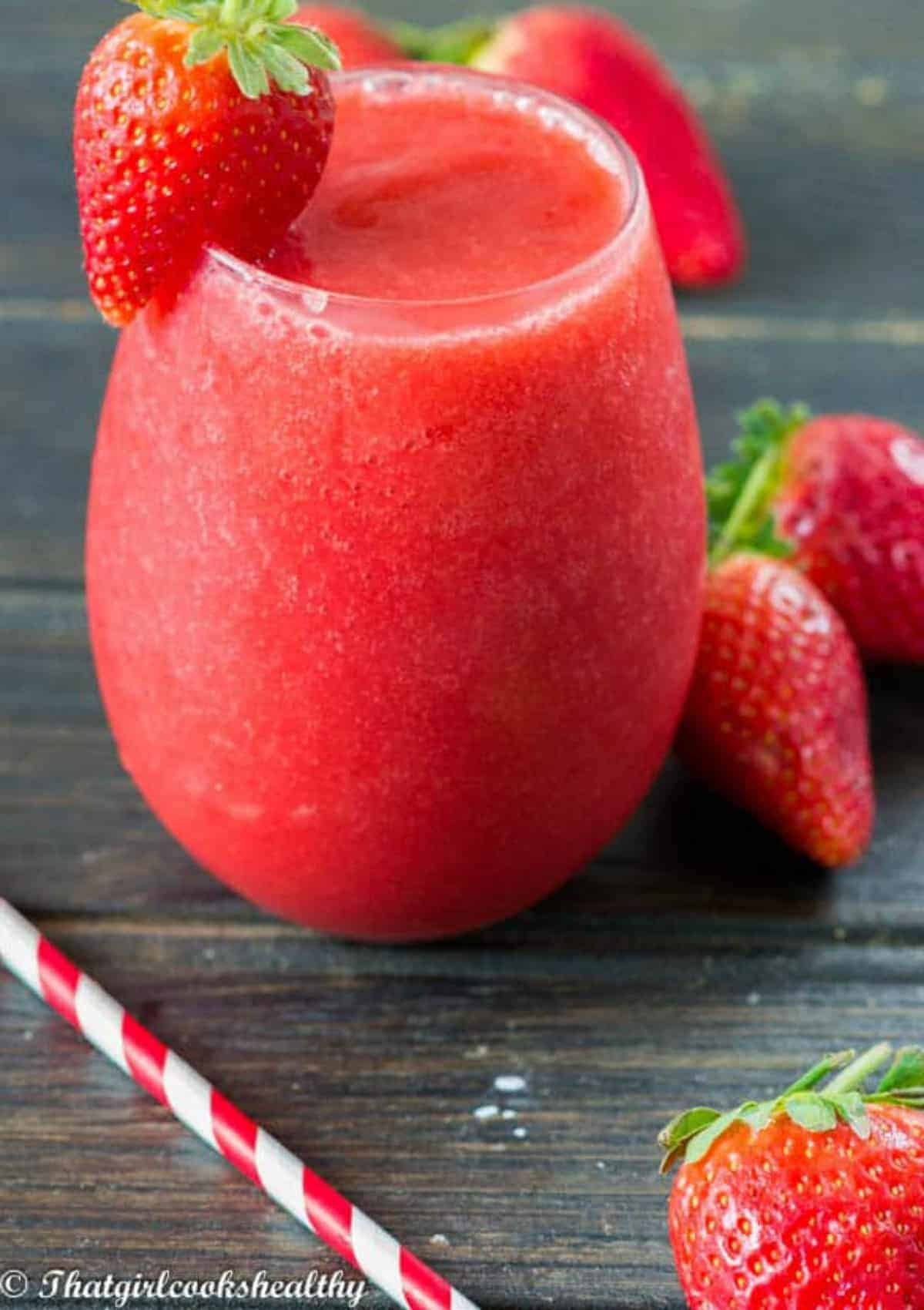 Red slushie in a glass