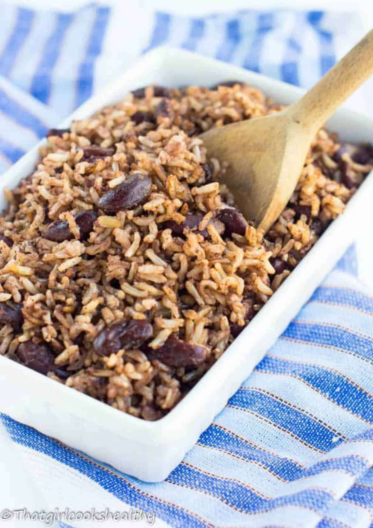 jamaican rice and peas recipe  that girl cooks healthy