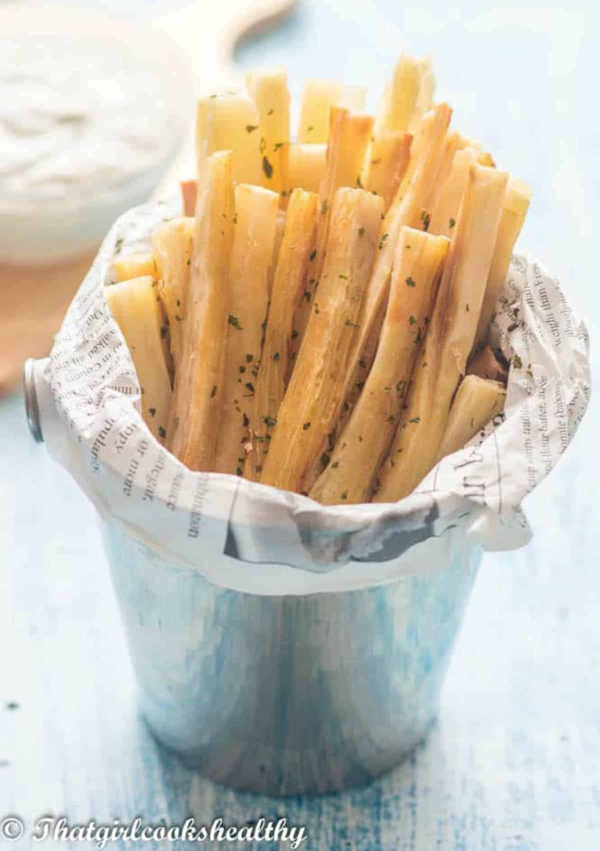 fries with a dip