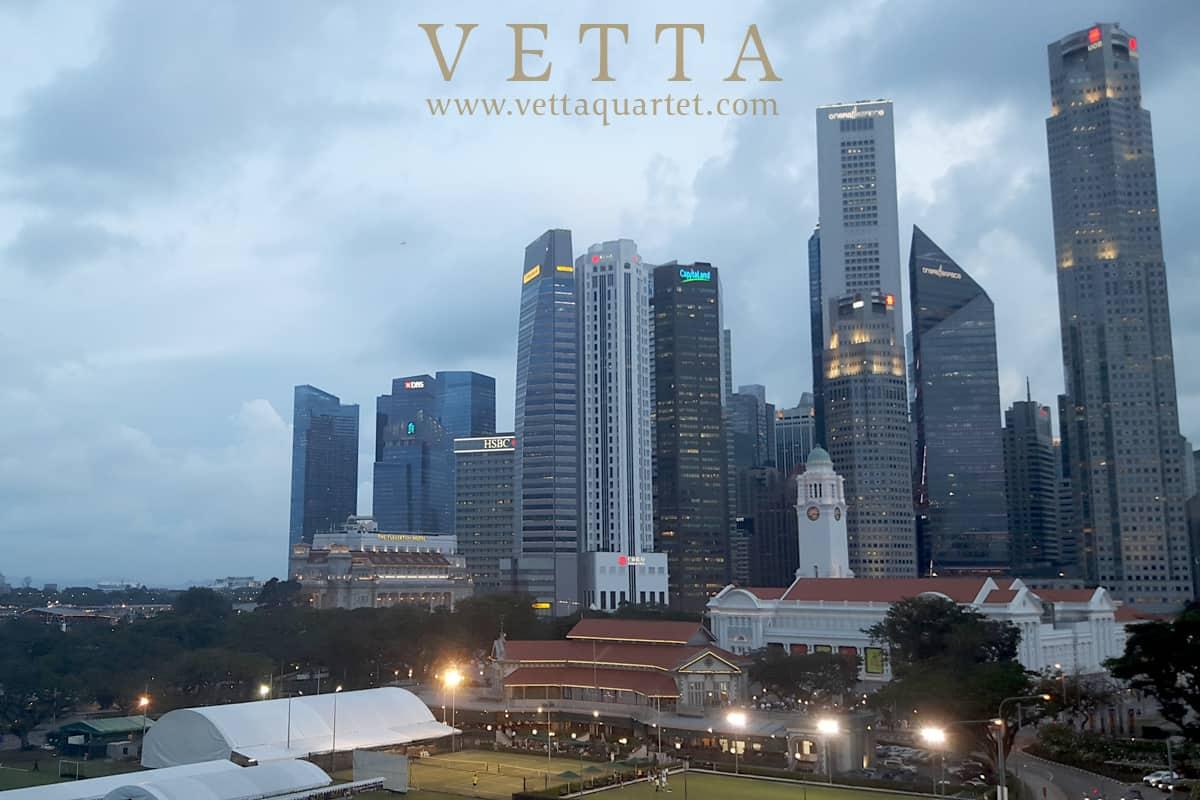 VETTA String Quartet for Company Banquet dinner at Aura Sky Lounge