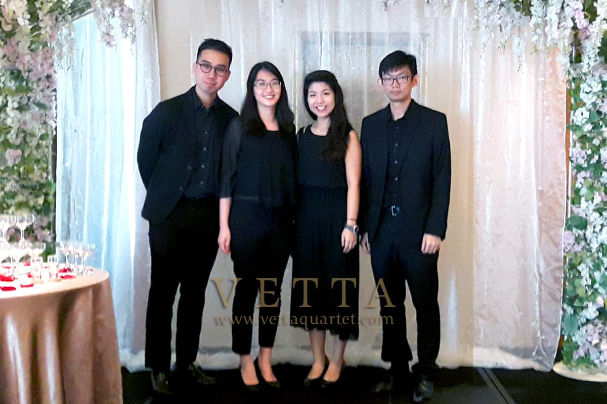 String Musicians for wedding at Grand Copthrone Waterfront