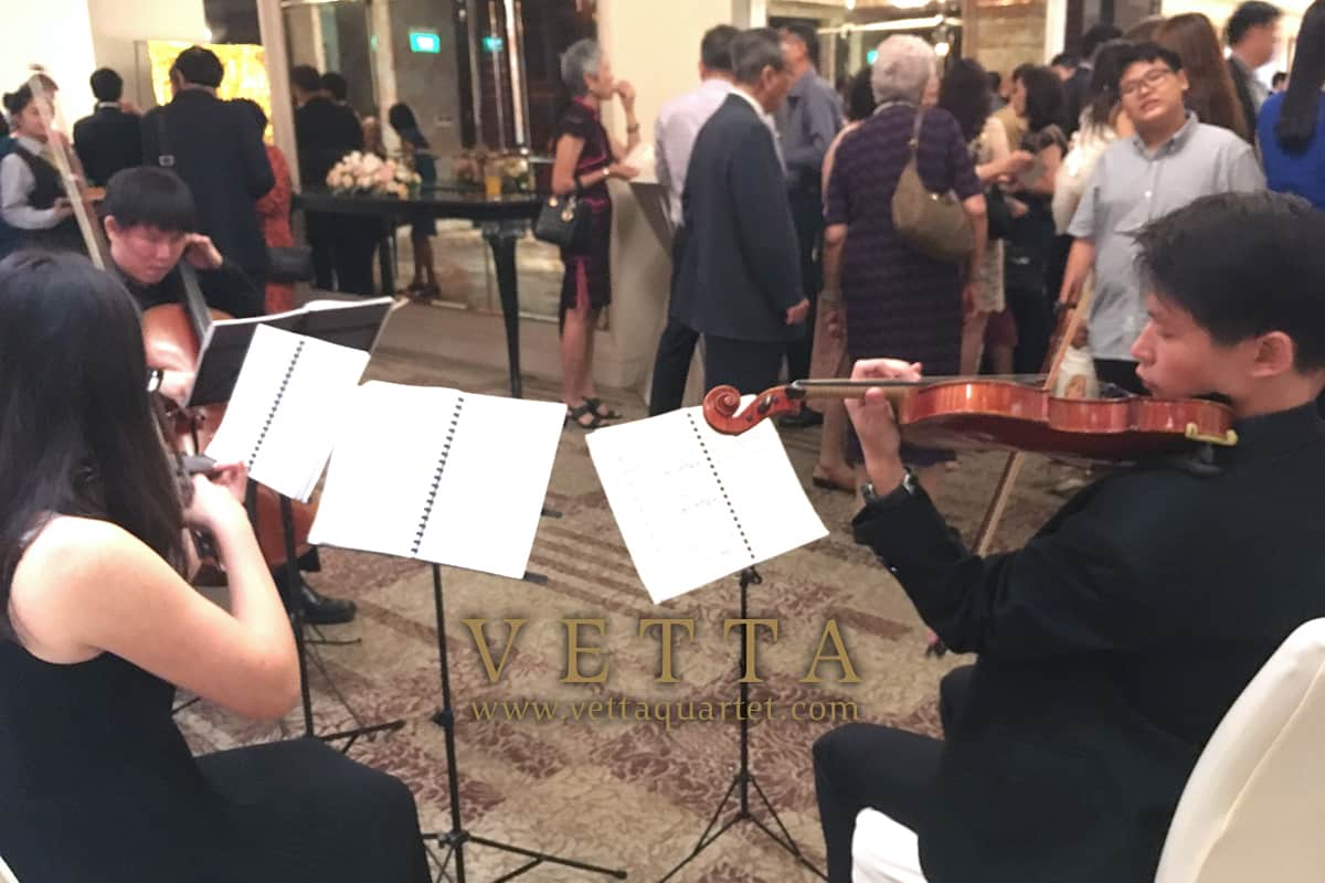 Live String Quartet Music for Cocktail Reception at St Regis Singapore