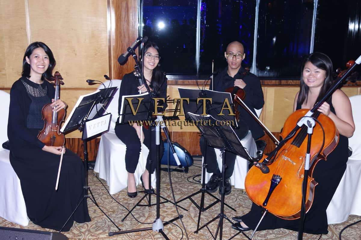 Four String Musicians for Corporate Bank dinner at Ritz Carlton