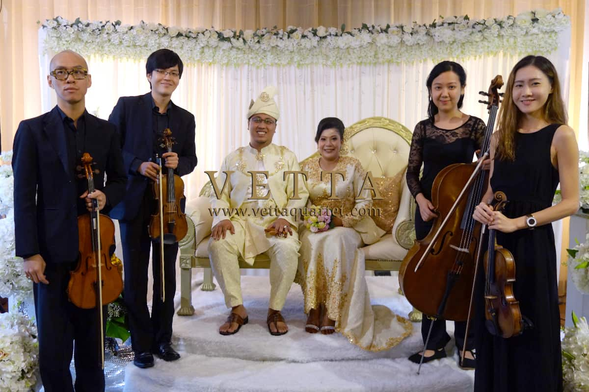 Four String Musicians Playing March-in and background music for Malay Wedding Singapore