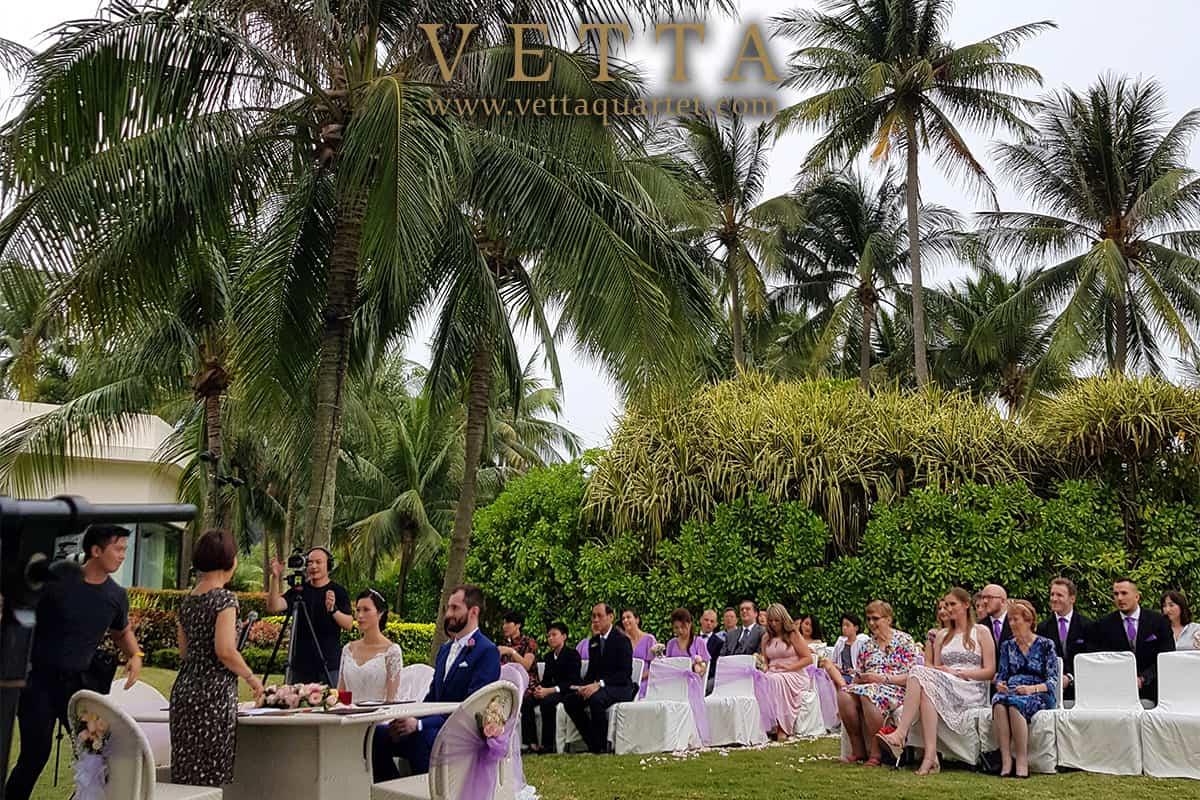 String Quartet for Garden wedding Solemnisation at Sentosa Shangri La Rasa