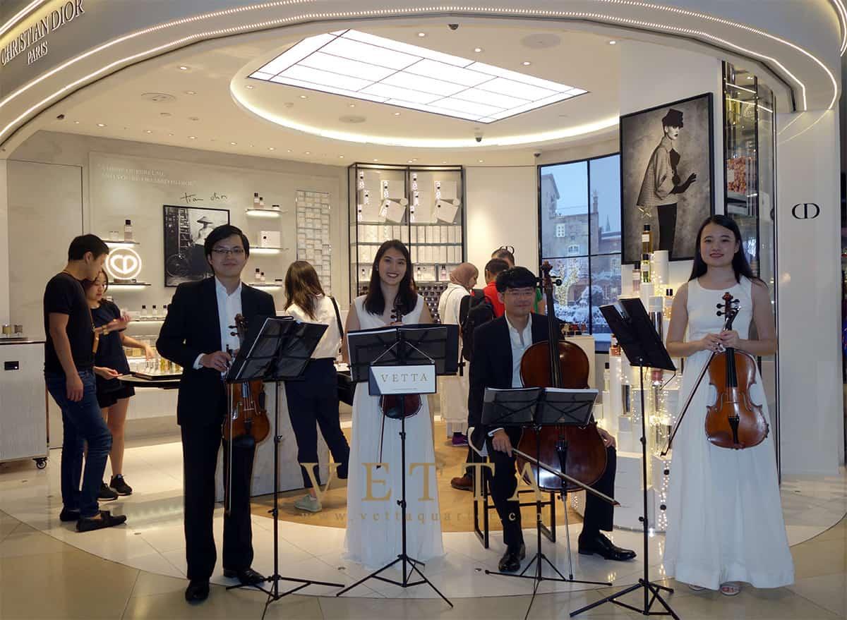 String Quartet for Christmas Event at Dior