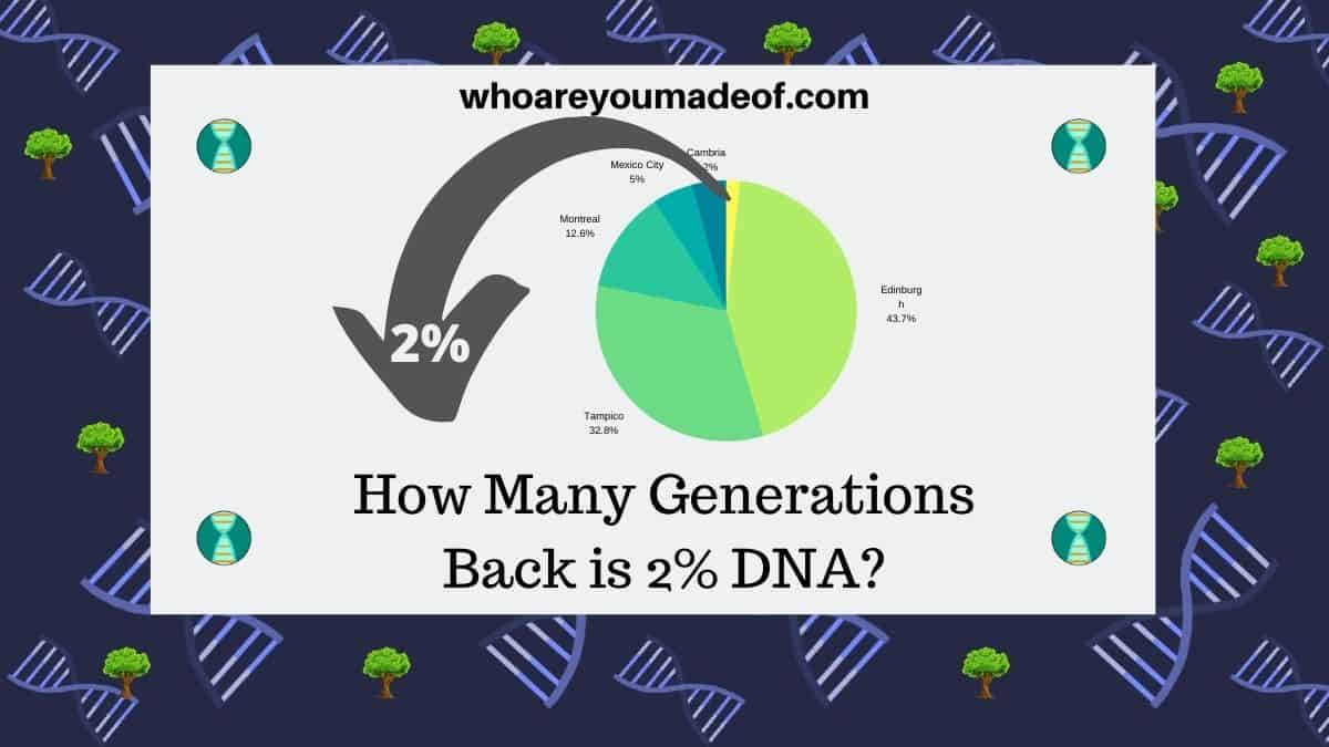 How Many Generations Back is 2% DNA - describes topic of blog post