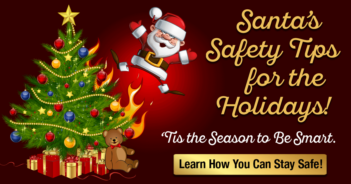 Santa's Safety Tips For The Holidays Infographic - Martin, Harding & Mazzotti 1800law1010