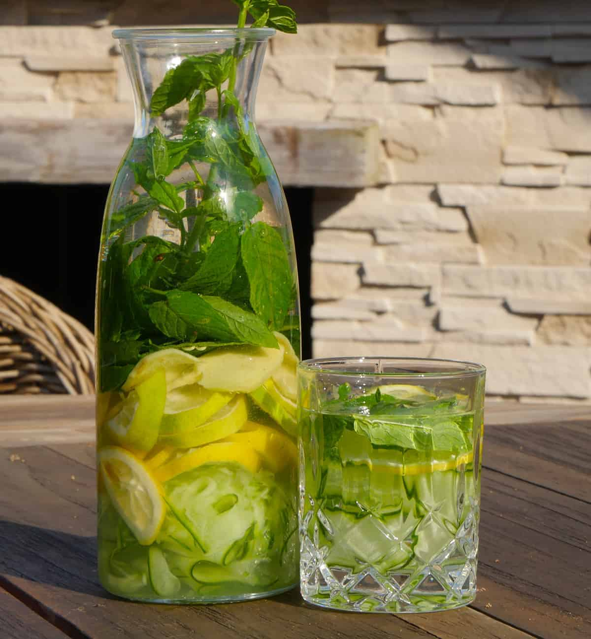 Gurkenwasser - das leckere detox Wasser zum selber machen