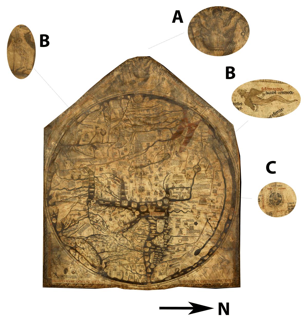 Hereford Mappa Mundi, circa 1300 CE