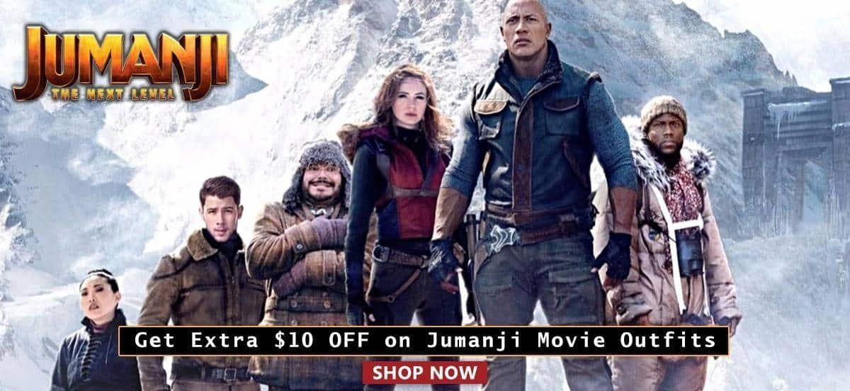 Get Extra $10 OFF on Jumanji Movie Outfits