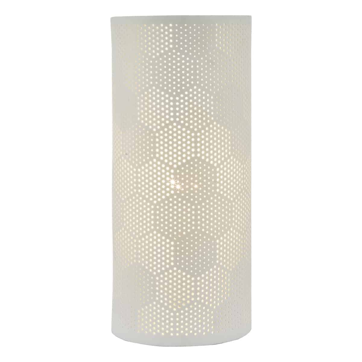 Där BRY412 Bryn Table Lamp White Ceramic