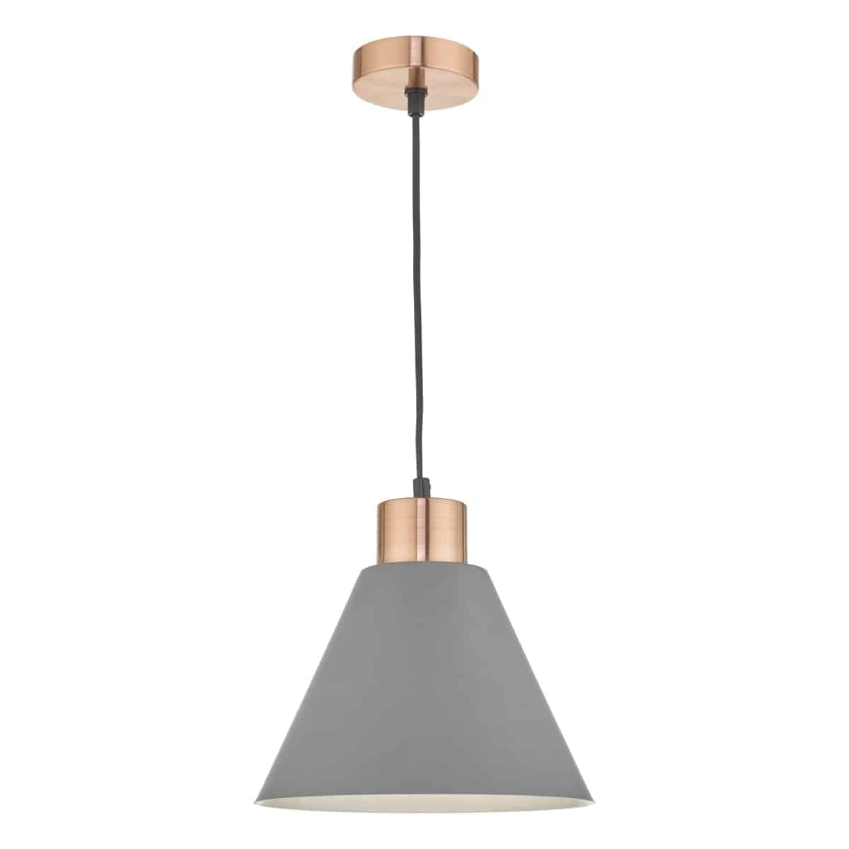 Där ZOC0139 Zocalo Pendant Grey & Copper
