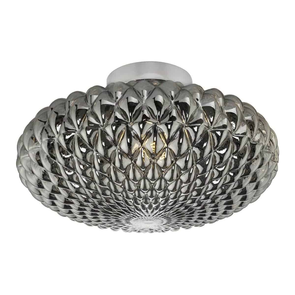 Dar BIB3010 Bibiana 1 Light Wall Light Polished Chrome with Smoke Shade Large