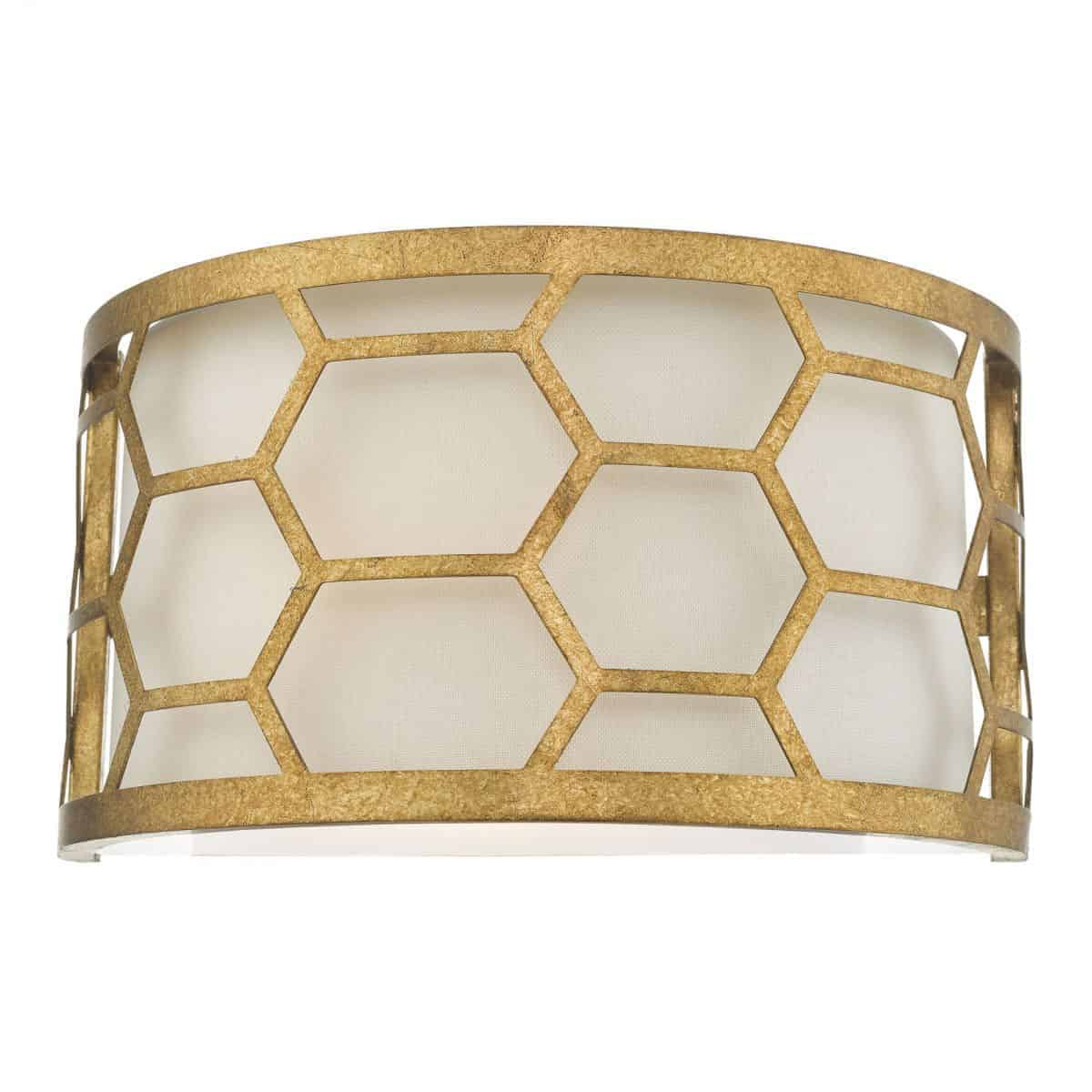 Dar EPS0712 Epstein 1 Light Wall Light Gold & Ivory