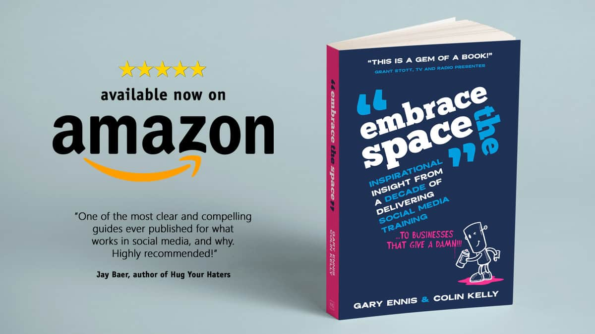 Embrace the Space - social media for business book - now available on Amazon
