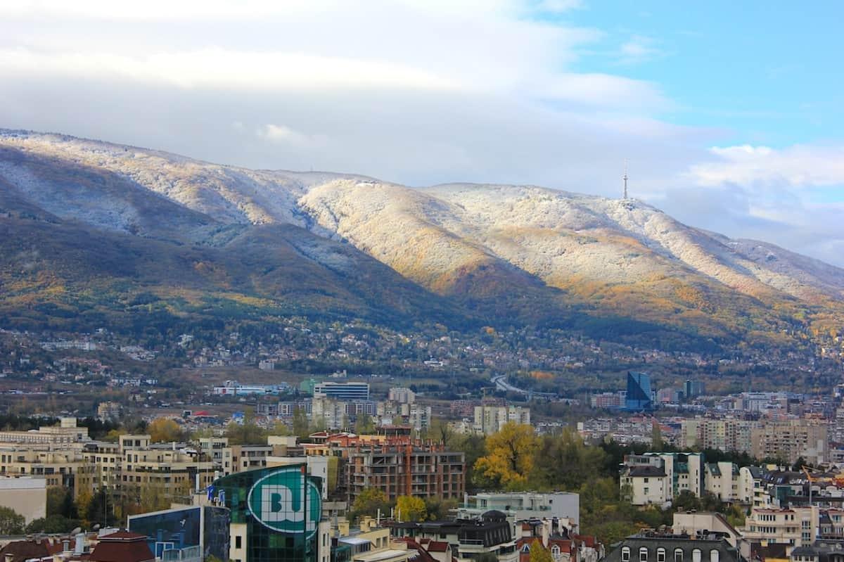 Montañas de Vitosha junto a la capital de Bulgaria Sofía