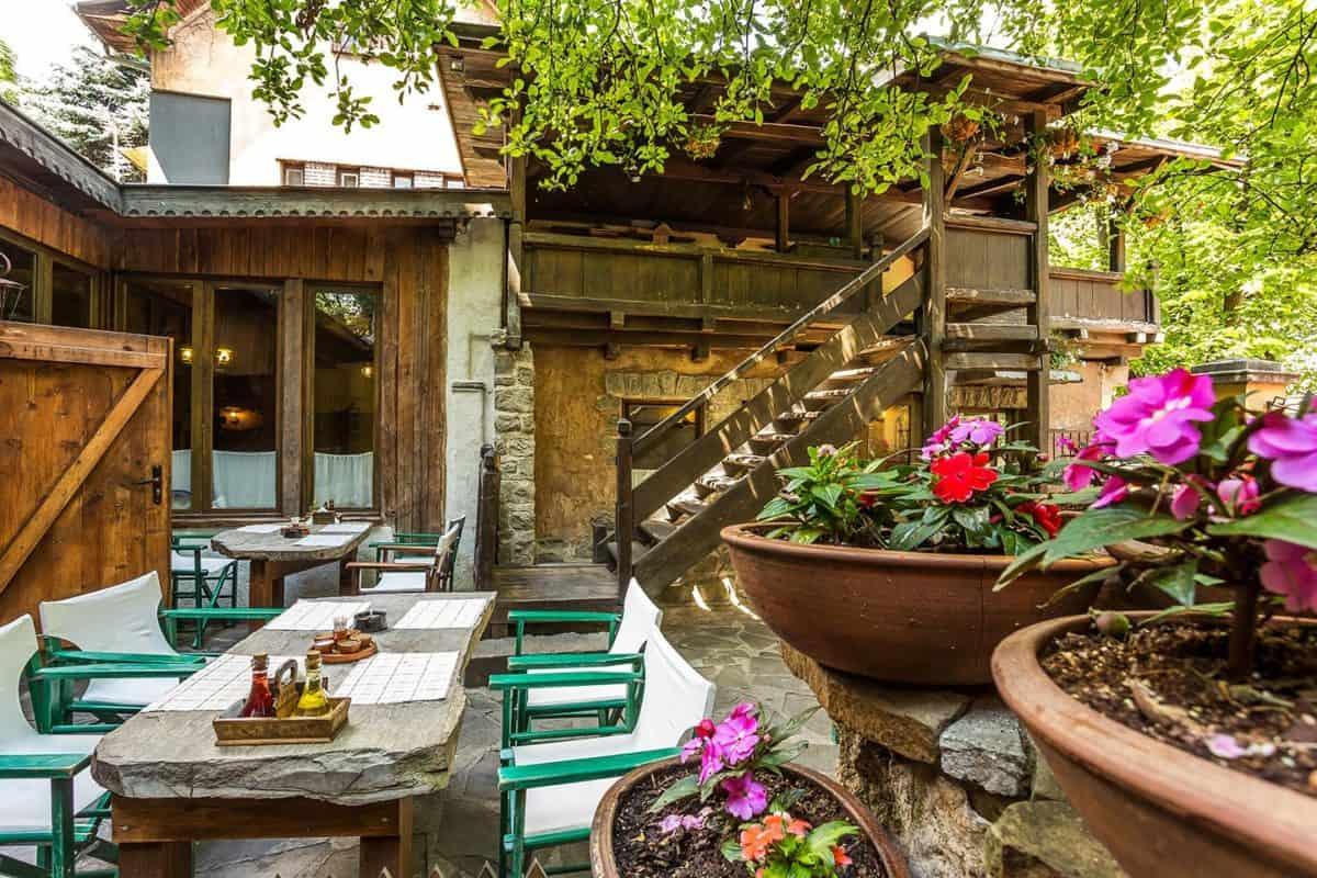 Terraza del restaurante Pod Lipite