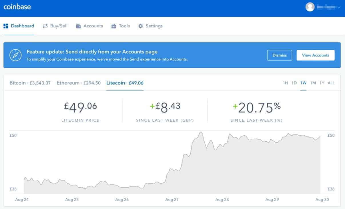 Coinbase Cryptocurrency investment