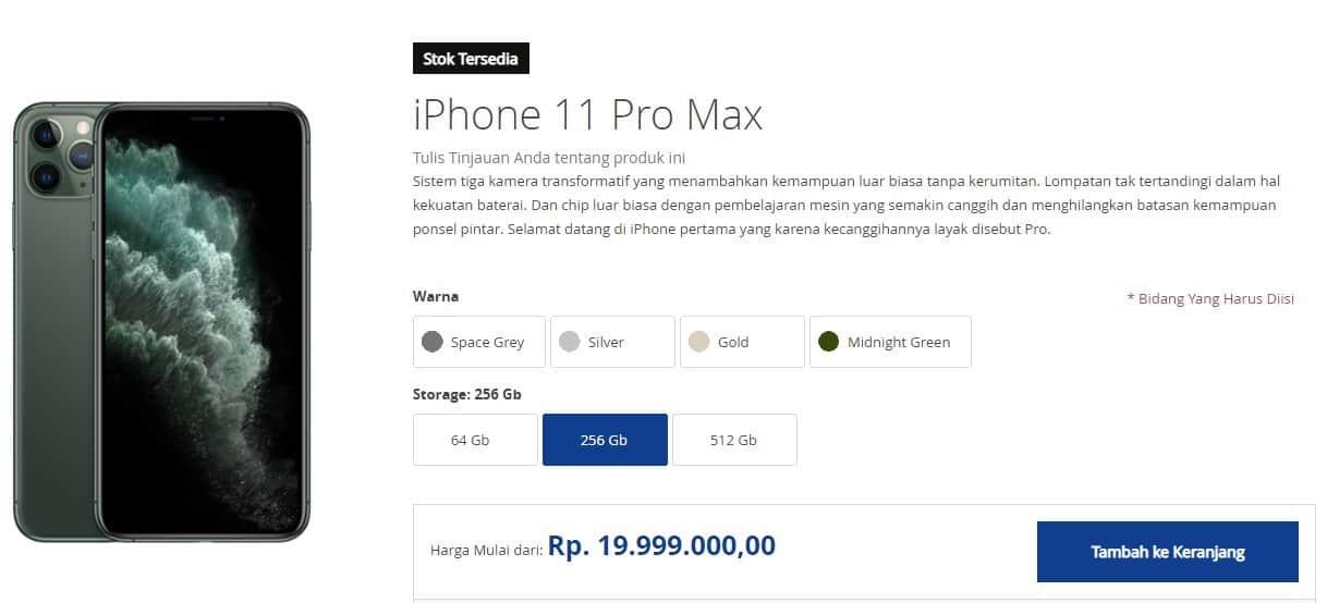 Harga iPhone 11 Pro Max 256GB iBox - Update Desember 2020!