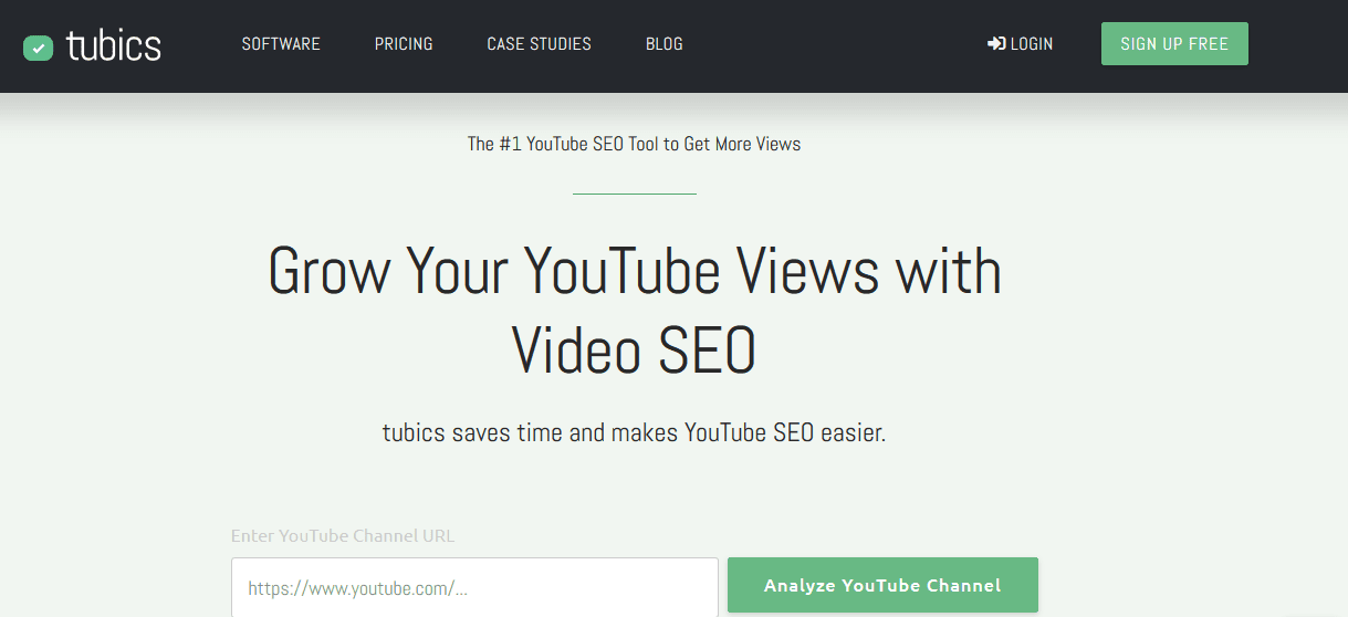 Tubics YouTube Marketing Tools