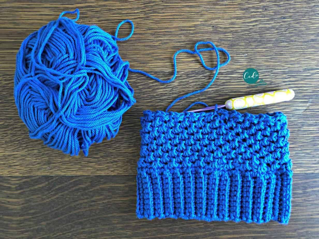 Single Crochet Cluster Stitch Photo Tutorial