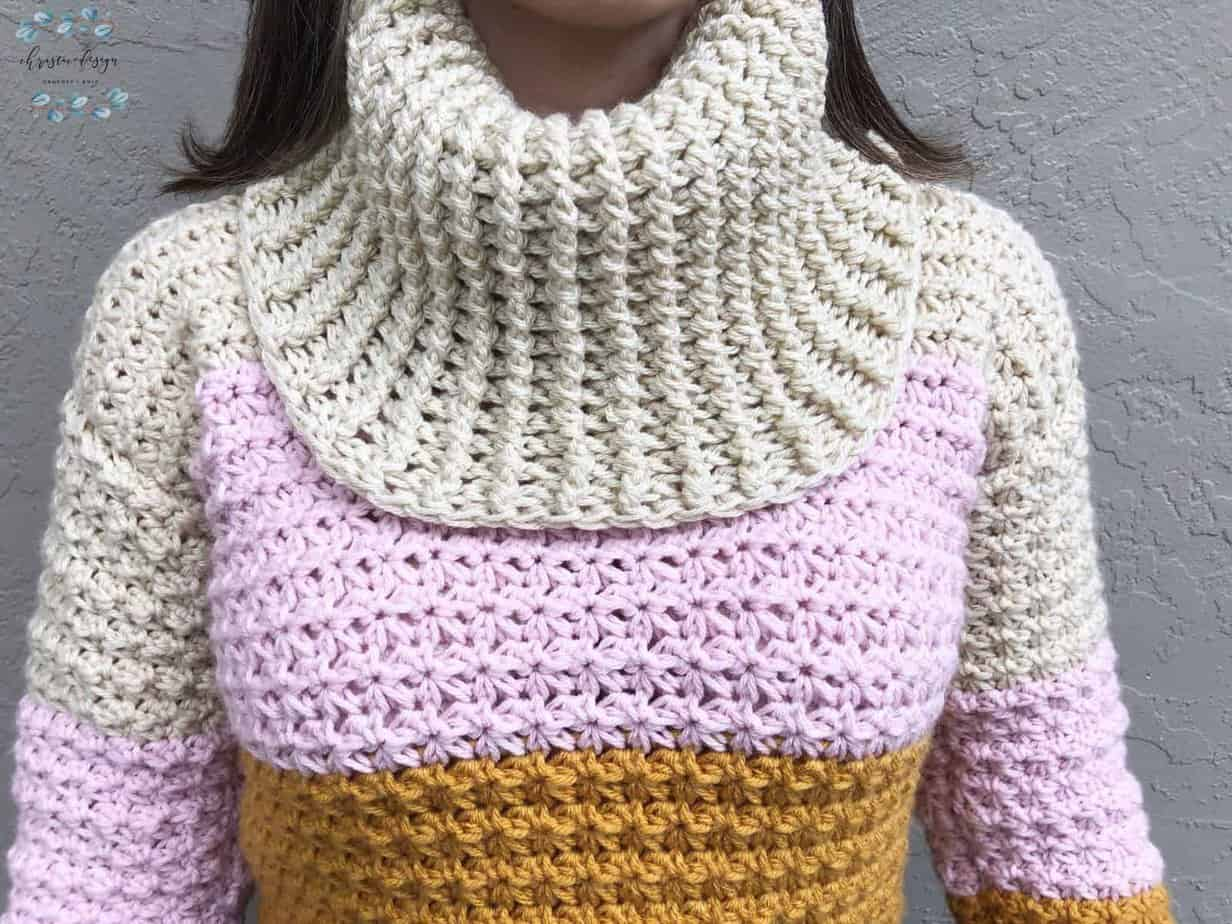 picture of cowl neck close up
