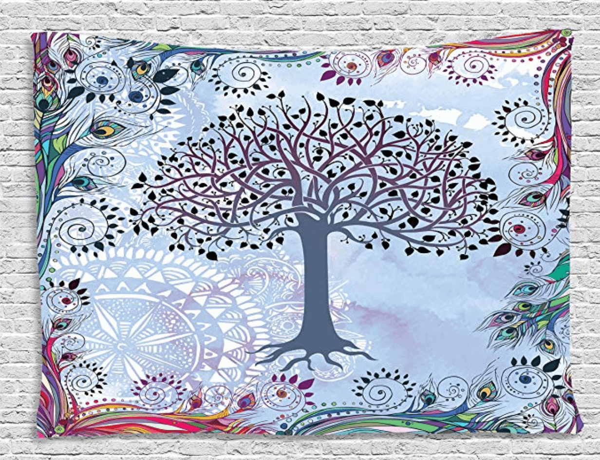 celtic tree of life wall tapestry