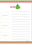 Christmas Wish List for Kids - Letter to Santa {Free Printable}