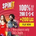 Spin It Casino 200 free spins and 1000 EUR welcome bonus