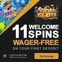 Video Slots Casino 11 free spins and €10 free bonus plus 100% up to €200 welcome bonus