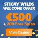 Stick Wilds Casino €500 Welcome Bonus + 200 Free Spins
