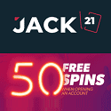Jack21 Casino 50 free spins and 120% up to $360 welcome bonus