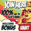 Rant Casino free spins and $1000 welcome bonus