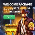 Slothunter 250 free spins and 400 EUR welcome bonus