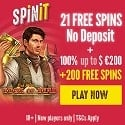 Spin It Casino 21 Free Spins No Deposit and €1000 Welcome Bonus + 200 Free Spins