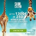 Skol Casino 250 free spins + $1300 Welcome Bonus