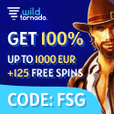 Wild Tornado Casino 125 free spins and $/€1000 Welcome Bonus