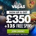 Slotty Vegas Casino 50 free spins and 500 EUR welcome bonus