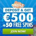 Slotty Vegas Casino 50 free spins and 500 EUR welcome bonus
