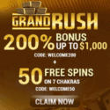 Grand Rush Casino 100 free spins + $1,000 exclusive promotion