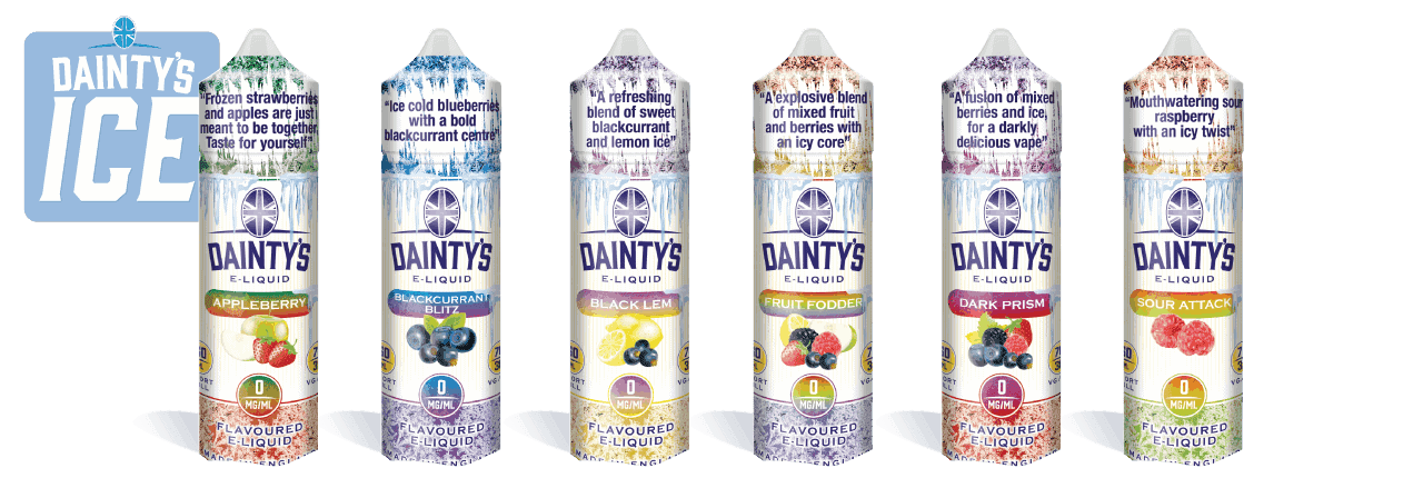 Dainty's ICE flavours