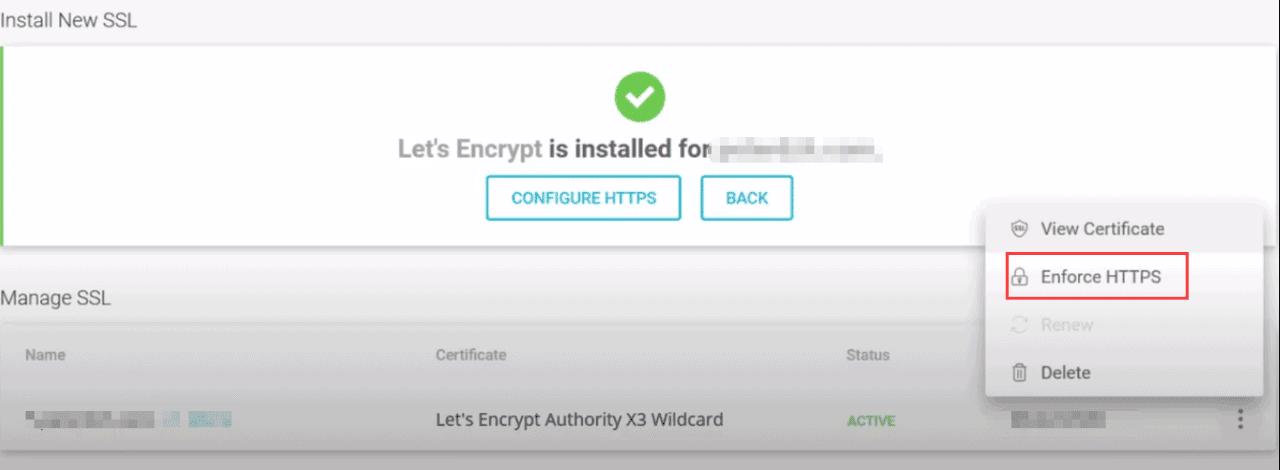 强制HTTPS