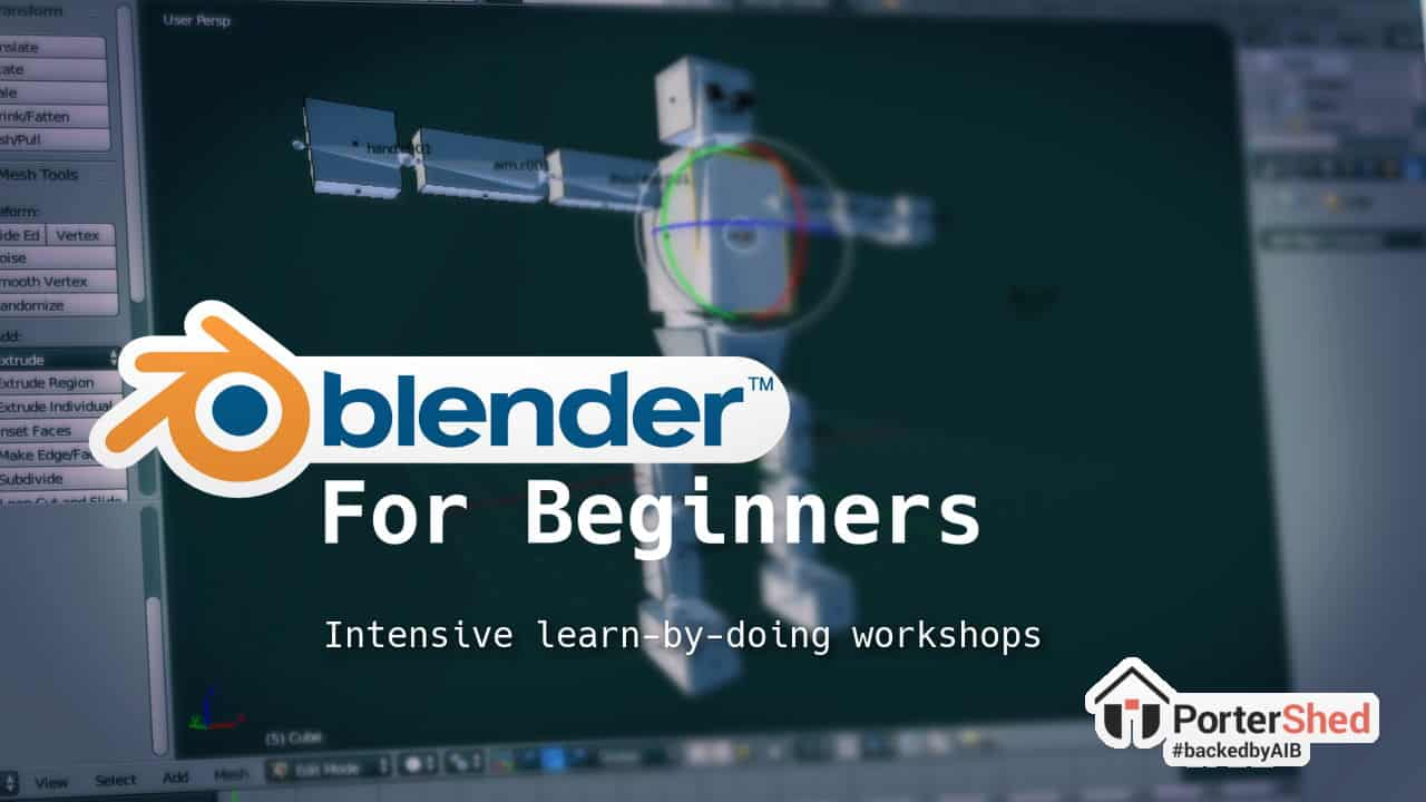 3d modelling with Blender workshops by MindCauldron