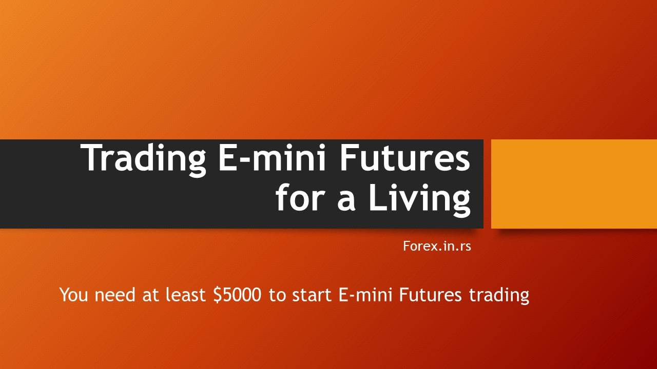 trading emini futures for a living $5000 capital