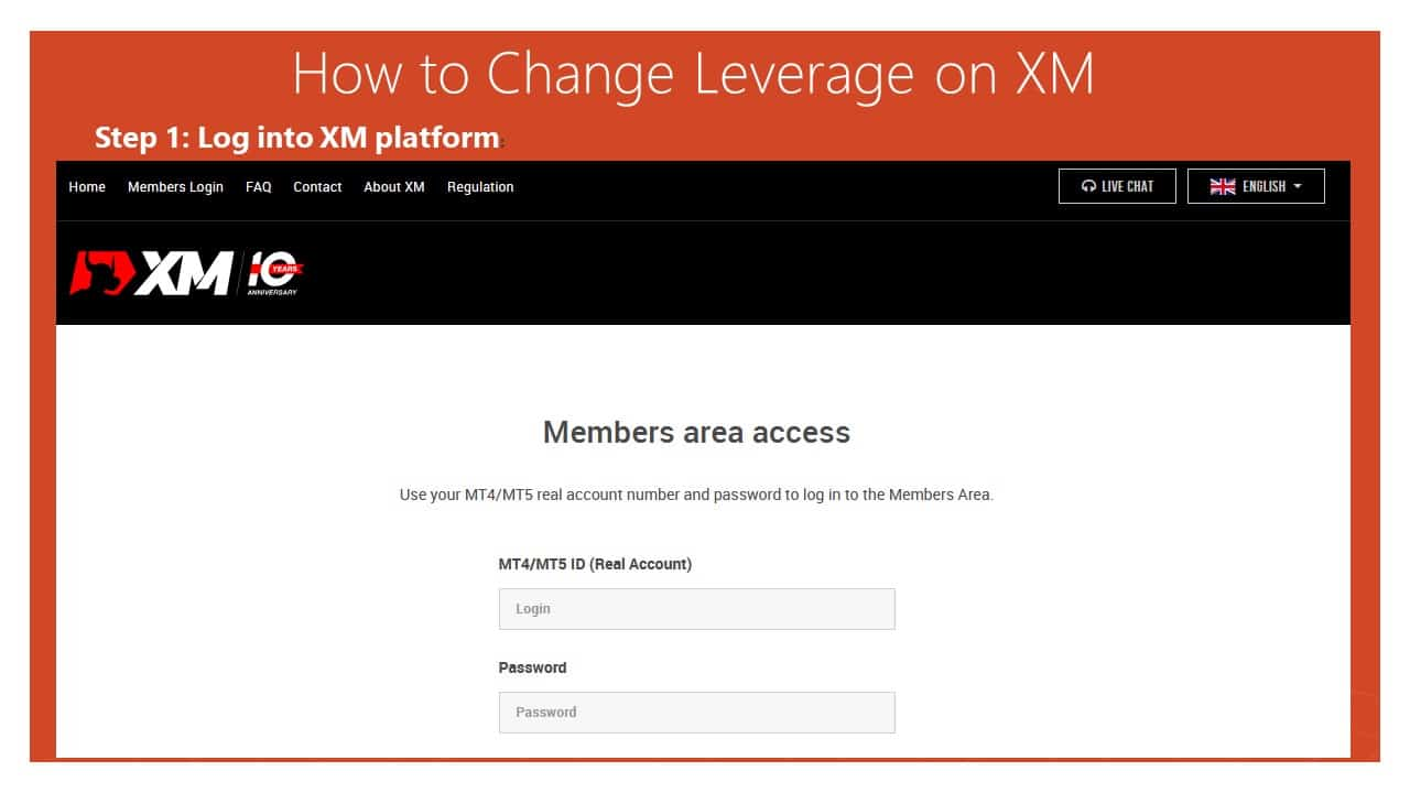 log in xm platform