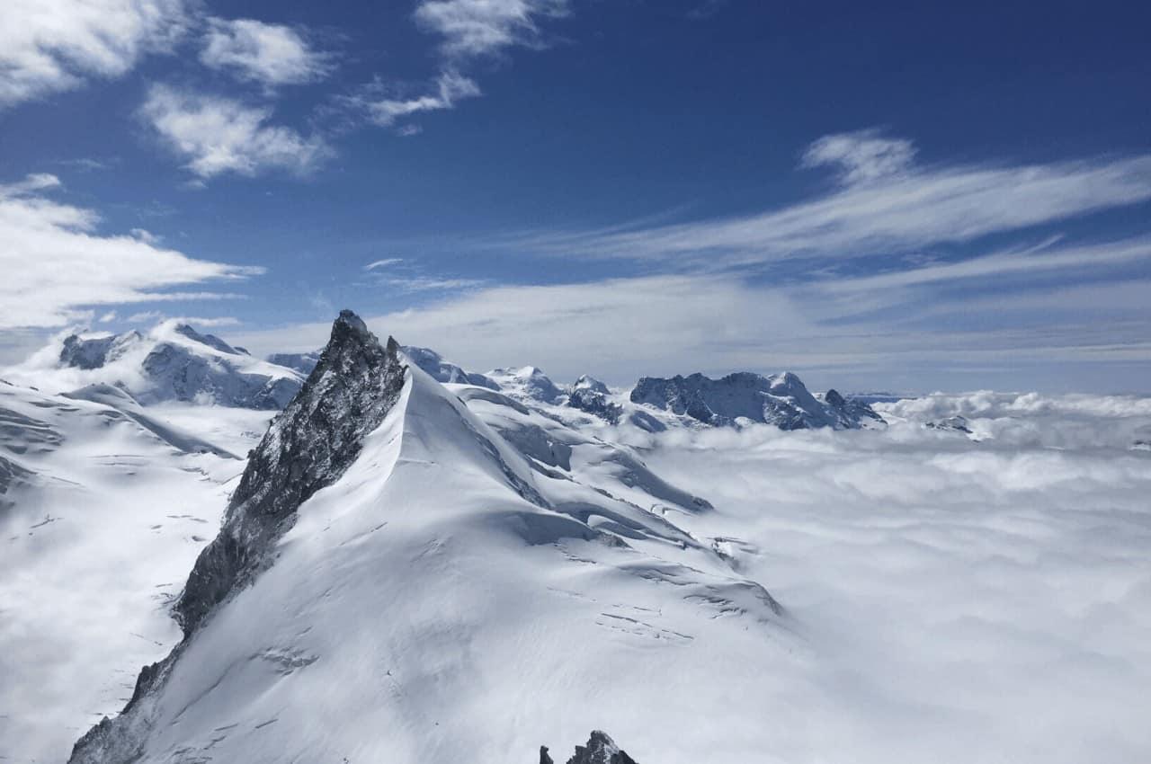 Titelbild Allalinhorn  - Einfache 4000er für Anfänger - das Allalinhorn