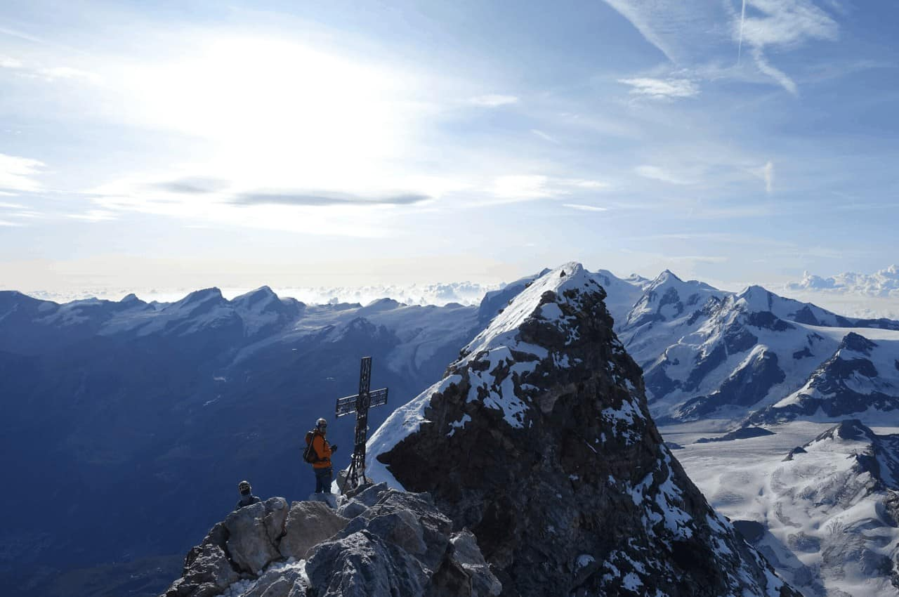 Gipfelbild Matterhorn Alpen Zermatt Wallis