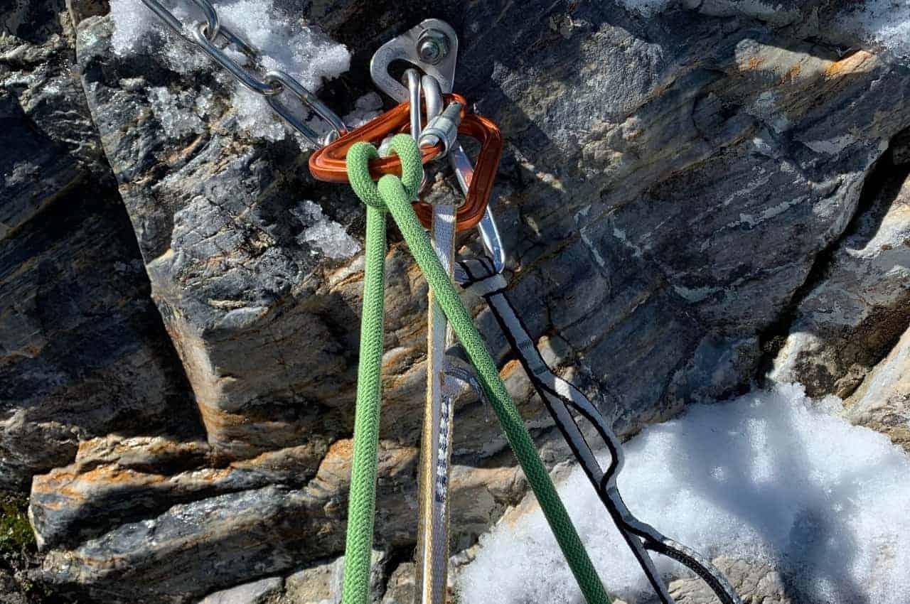 Seil am Standplatz beim Kletter